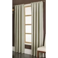 Curtains At Lowes Shop Allen Roth Oberlin 95 In L Geometric Straw Back Tab Window