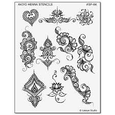 temporary tattoo design stencils for earth henna body art kits
