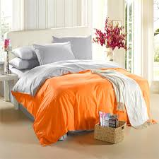 aliexpress com buy orange silver grey bedding set king size