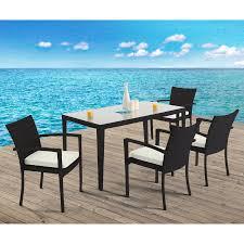 domus ventures dallas patio dining set seats 4 238hn