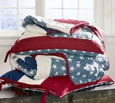 American Flag Comforter Stars U0026 Stripes Reversible Quilt U0026 Sham Pottery Barn