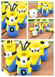 mini minion bowling set craft made with recycled drinkable yogurt
