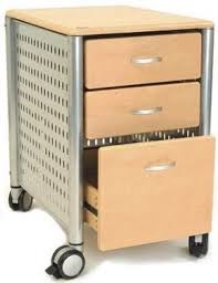 Mobile File Cabinet Innovex Dl Km02 4983 Three Drawer Mobile File Cabinet In Maple