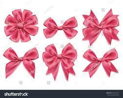 pink bows vector 3d realistic white pink bows stock vector 497463133