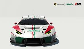 Lamborghini Huracan Front - lamborghini huracan gt3 alitalia tribute motorsport livery by