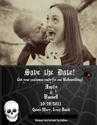 save the date halloween wedding awesome picture design images