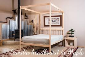 4 Poster Bed Frames Organic Bedroom Untreated Solid Wood Bed Frame 4 Poster Bed