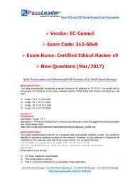 mar 2017 new passleader 312 50v9 dumps with vce and pdf by
