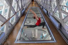 glass floor yoga with a high u2013 push ups and pedicures