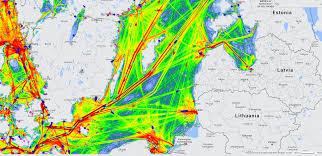 Baltic Sea Map Baltic Sea Ship Traffic Ais Ship Traffic