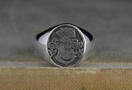 family rings for crafted mens custom family crest ring by rwgoldsmith