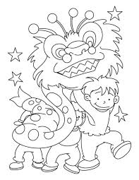 chinese new year coloring pages little new year coloring