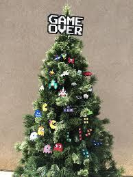 Retro Christmas Tree Toppers - déco de noël pixel art perles hama retro gaming noel