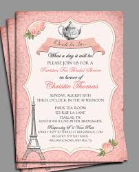 bridal tea party invitation vintage parisian tea party invitation printable or printed with