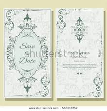 set template greeting cards frame border stock vector 560810752