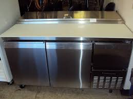 continental pizza prep table used refrigeration