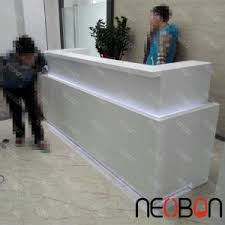 Small Salon Reception Desk Cheap Small Nail Salon Reception Desk Counter White Curved
