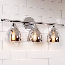 chrome translucent glass vanity light 3 light shades of light