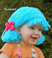 Lalaloopsy Halloween Costumes Blue Pigtail Wig Baby Halloween Costume Yumbaby Etsy