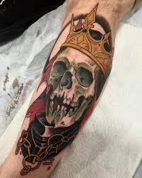 tattoo skull crown death leg tattoo tattoo for men skulls