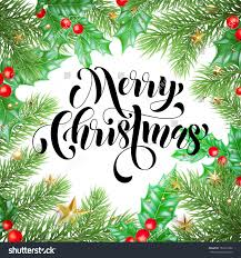 merry christmas holiday hand drawn quote stock vector 760211086