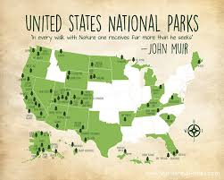 map of us states national parks national parks map custom colors united states map with all