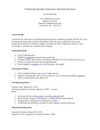 quality assurance resume exles resume sle of quality assurance fresh quality assurance resume