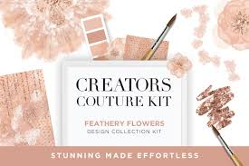 feathery flowers couture design kit creators couture