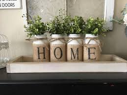 country home decor mason jars with burlap painted mason