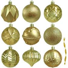 home accents 80 mm assortment ornament in gold 75 count