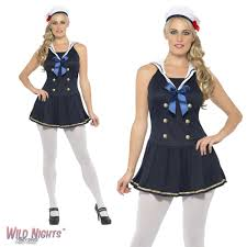 fancy dress costume ladies nautical sailor woman dress large
