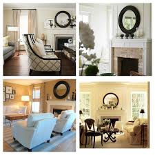 casual living room interior decoration with round black wood