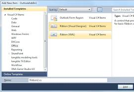 customize ribbon visual designers to customize office ribbon in visual studio 2012