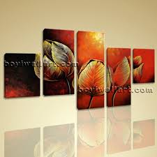 Oversized Wall Art by Canvas Prints Tulip Flowers Red Abstract Wall Art Framed Contemporary