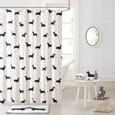 White Cotton Duck Shower Curtain Cotton Printed Shower Curtain