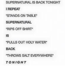 Meme Throwing Table - supernatural is back tonight i repeat stands on table supernatural