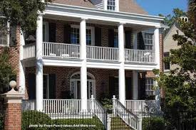 colonial front porch designs story colonial house plan alp