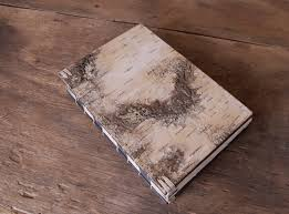 Rustic Wedding Albums White Birch Bark Handmade Journal Wood Book Large Rustic