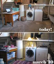 basement laundry room clean up white house black shutters