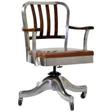 Office Chairs And Desks Shaw Walker Desk Chair Circa 1940s Polished Aluminum And
