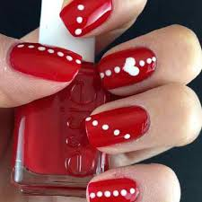 18 red and white nail art designs to try on valentine u0027s day