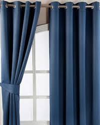 Chevron Style Curtains Navy Blue Herringbone Chevron Blackout Thermal Curtains Eyelet