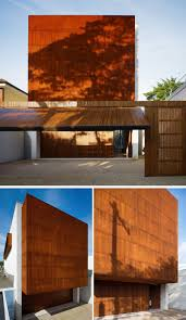 modern house garage 13 modern houses that have weathering steel exteriors contemporist