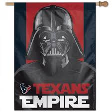 Flags Houston Houston Texans Darth Vader Star Wars House Banner