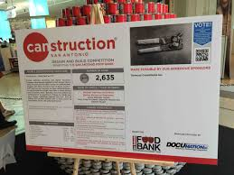 fundraiser by stephanie marquez canstruction sculpture food bank