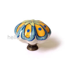 painted ceramic cabinet knobs 43mm euro hand painted country ceramic cabinet knob cupboard