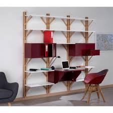 bibliothèque avec bureau intégré bibliothèque en chêne avec bureau intégré twig front 3
