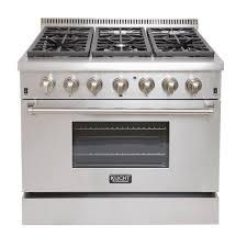 Home Depot Pro Extra Kucht Pro Style 36 In 5 2 Cu Ft Dual Fuel Range With Sealed