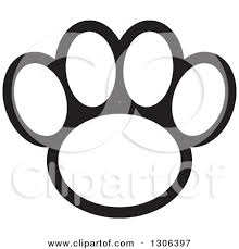 paw print coloring