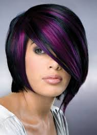 black hair with purple highlights new hairstyles trend purple